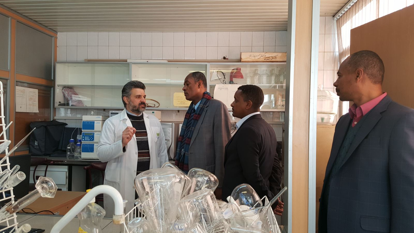 Visit of Prof  Lemessa President of Jimma University with